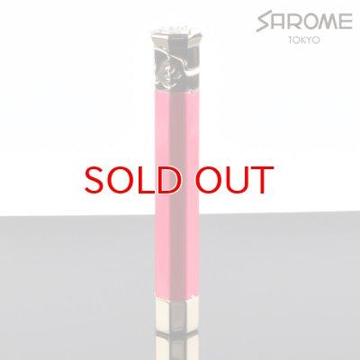画像1: 【】サロメ 電子ライター SK150-03 ルビーレッド シルバー sarome ブランド ライター sk150-03【】