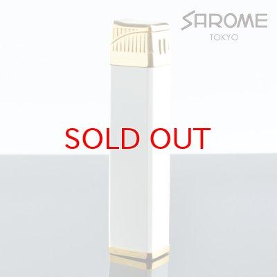 画像2: サロメ 電子ガスガスライター SK164-05 ホワイト ゴールド0.2μ sarome ブランド ライター sk164-05【】