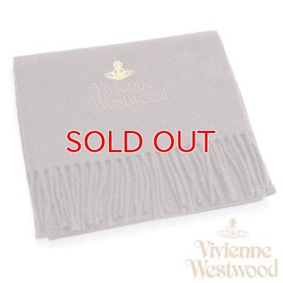 画像1: 【】Vivienne Westwood ヴィヴィアンマフラー sl4-fm17-0003 同色ロゴマフラー ダークブラウン 【】