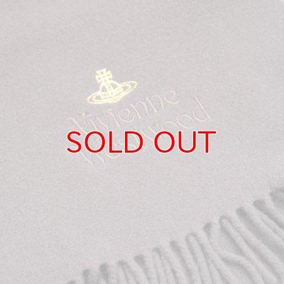 画像2: 【】Vivienne Westwood ヴィヴィアンマフラー sl4-fm17-0003 同色ロゴマフラー ダークブラウン 【】