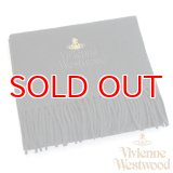 【】Vivienne Westwood ヴィヴィアンマフラー sl4-fm17-0012 同色ロゴマフラー ブラック 【】