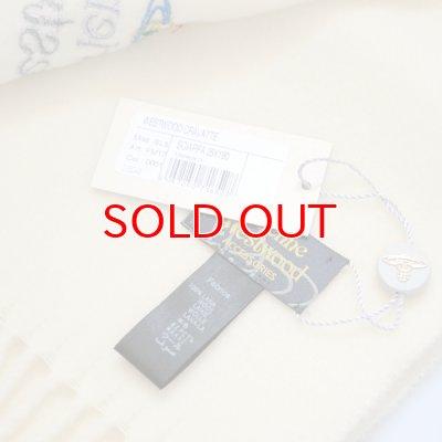 画像3: 【】Vivienne Westwood ヴィヴィアンマフラー sl5-fm17-0001 シルバーロゴマフラー ホワイト 【】