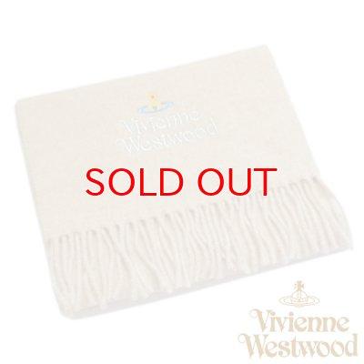 画像1: 【】Vivienne Westwood ヴィヴィアンマフラー sl5-fm17-0002 シルバーロゴマフラー ベージュ 【】