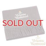【】Vivienne Westwood ヴィヴィアンマフラー sl5-fm17-0003 シルバーロゴマフラー ダークブラウン 【】