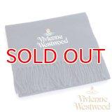 【】Vivienne Westwood ヴィヴィアンマフラー sl5-fm17-0009 シルバーロゴマフラー ネイビー 【】
