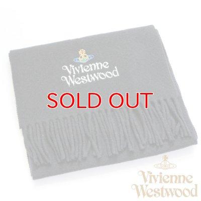 画像1: 【】Vivienne Westwood ヴィヴィアンマフラー sl5-fm17-0012 シルバーロゴマフラー ブラック 【】