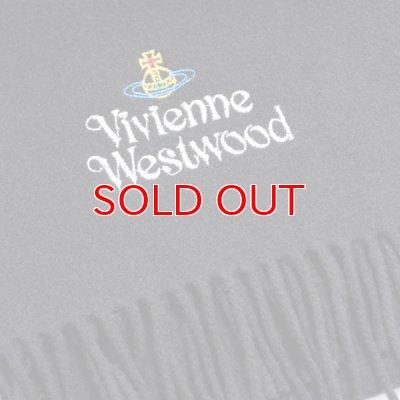 画像2: 【】Vivienne Westwood ヴィヴィアンマフラー sl5-fm17-0012 シルバーロゴマフラー ブラック 【】
