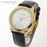 TOMORA TOKYO t-1602-gdwh 日本製クォーツ スモールセコンド腕時計 T-1602 GDWH
