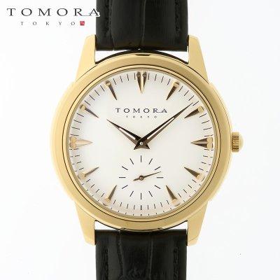 画像2: TOMORA TOKYO t-1602-gdwh 日本製クォーツ スモールセコンド腕時計 T-1602 GDWH