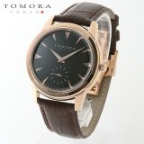 TOMORA TOKYO t-1602-pgbk 日本製クォーツ スモールセコンド腕時計 T-1602 PGBK