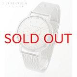 TOMORA TOKYO t-1603-pwh 日本製クォーツ 日付・曜日カレンダー付き 腕時計 T-1603 PWH