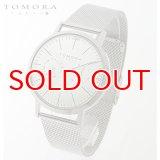 TOMORA TOKYO t-1603-wh 日本製クォーツ 日付・曜日カレンダー付き 腕時計 T-1603 WH