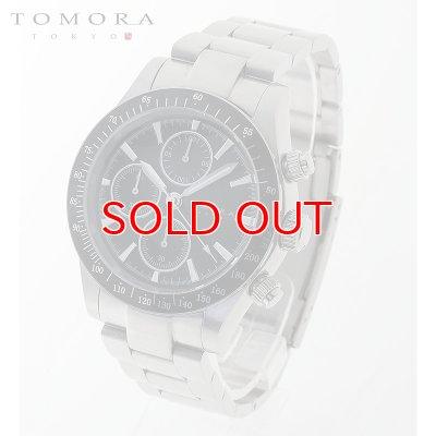 画像1: TOMORA TOKYO t-1604-ssbk 日本製クォーツ クロノグラフ 腕時計 T-1604 SSBK