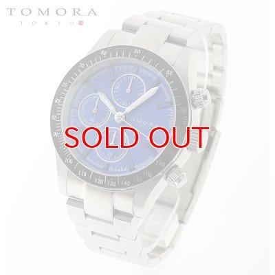 画像1: TOMORA TOKYO t-1604-ssbl 日本製クォーツ クロノグラフ 腕時計 T-1604 SSBL