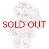 【】テディベア クリスタルペンダント&ストラップ (弟)Sサイズ ホワイト (Teddy-01WH) 【】