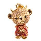 【】テディベア クリスタルペンダント&ストラップ (悪魔)兄 レッド (Teddy-023RE) 【】