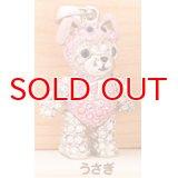 【】テディベア クリスタルペンダント&ストラップ (干支)うさぎ (Teddy-027 うさぎ) 【】