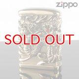 【y】ZIPPO zp-tr-bsf 天龍 古美ゴールド フルメタル アーマー ジャケット ( zippo ジッポー ) オイルライター 【】