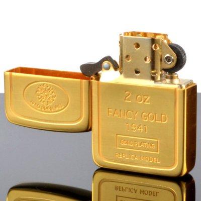 画像2: 【m】Zippo ジッポライター zp62880198 1941インゴット 24金メッキ エッチング加工 【】