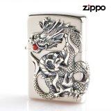 Zippo ジッポライター zp64160198 ドラゴンメタル 銀サテーナ
