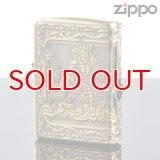 【m】Zippo ジッポライター zp7625362 三面連続エッチング加工 三面龍サイドエポBSイブシ【】